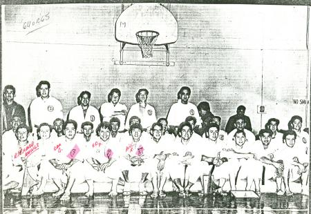 Group photo at dojo in East LA 1964